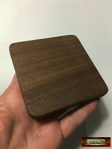 M01600 MOREZMORE Finished 3quot; Square Wood Base Wooden Plaque Doll Stand Coaster $3.62