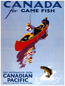 7616.Decoration Poster.Home Room wall design print.Canada for Game fish.Fishing