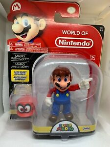 World of Nintendo ~ MARIO wCAPPY (WAVE 13) ACTION FIGURE ~ Mario Odyssey