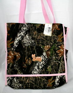 Mossy Oak Camo Pink Diaper Bag Embroidered Baby Tote Camouflage