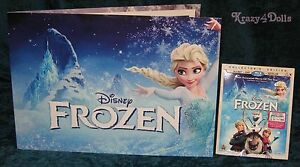 Disney Frozen Lithographs Set and Blu-Ray DVD Movie NEW! $30.00