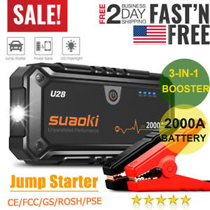 Suaoki Rescue 2000A Car Jump Starter Engine Battery Emergency Charger Power Bank