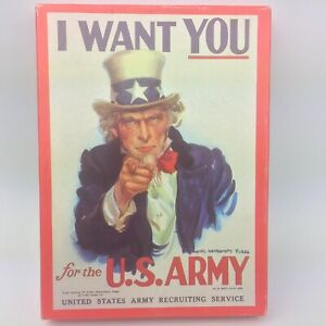 Vtg Blank Greeting Cards 1985 I Want You for the US Army James Montgomery Flagg