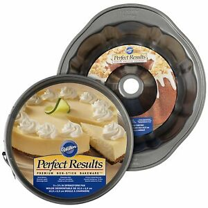 Wilton 2104-3675 Perfect Results Non-Stick Fluted Tube and Springform Pan Bru...