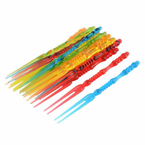 Household Birthday Party Plastic Food Cake Fruit Forks Picker Multicolour 40pcs