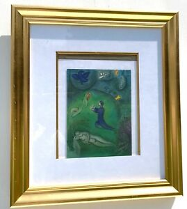 Marc Chagall  Daphnis and Lycénion signed Lithograph