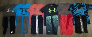 Lot 12 Boy's UNDER ARMOUR NIKE Dri-Fit T-Shirts Athletic Shorts size YSM Small 8