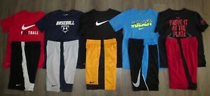 Lot 10 Boy's UNDER ARMOUR NIKE Dri-Fit T-Shirts Athletic Shorts YLG Large 1416
