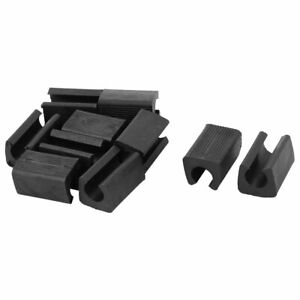 Home PE Anti scratch Furniture Chair Foot Protector Tube Pipe Cover Black 10 Pcs $7.76