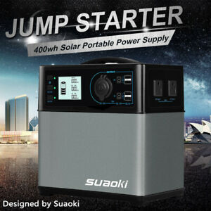 Suaoki 400Wh Portable Solar Power Generator Supply 4USB Camping Hunting Charger