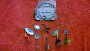 VINTAGE FISHING LURE LOT mepps spinning lure
