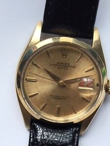 Rolex Vintage Ref. 6534 Solid Gold Date Extremeley Rare  Awsome Tropical Dial!