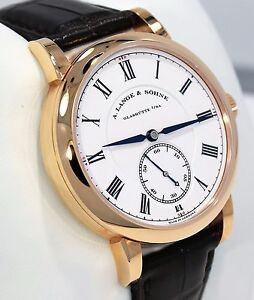 A. Lange & Sohne Richard Lange 260.032 18K Rose Gold Very Limited BPAPERS MINT!