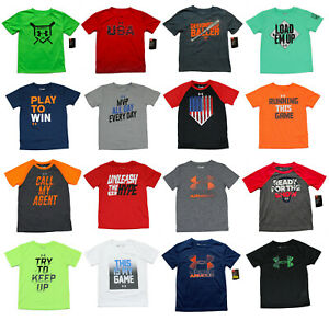 Under Armour Heatgear Boys T-Shirts - Size 3T 4T 4 5 6 7 - New wTags 40+ Styles
