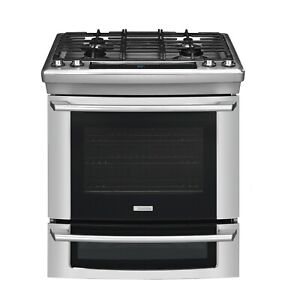 Electrolux Wave-Touch Series  EW30DS65GS 30 Inch Slide-in Dual Fuel Range