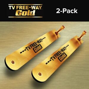(2) TV Free-Way Gold - Portable Digital Antenna  (Official BulbHead Product)