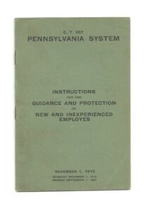 Vintage Pennsylvania System New Employees Booklet 1912 Nice Estate Find... $19.99