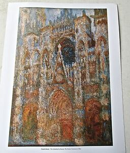 Claude Monet Poster The Cathedral at Rouen The Portal  14x11 Offset Lithograph $25.18