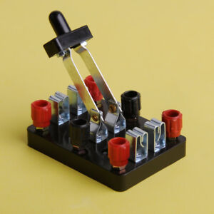 New Knife Switch Double Pole Double Throw DPDT toggle Experiment Test Hot