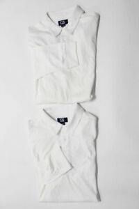 Cutter & Buck Men's Long Sleeve Polo Top White Size Extra Large Lot 2