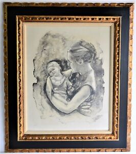 JOAN PURCELL (1933) VINTAGE ORIGINAL LITHOGRAPH SIGNED NUMBERED MOTHER  $65.00