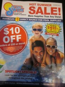 IN THE SWIM CATALOG SUMMER 2017 DISCOUNT POOL SUPPLIES amp; EQUIPMENT BRAND NEW $9.99