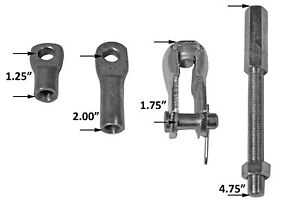 Tuff Stuff Performance 4750 Brake Booster Extension Rod And Clevis Kit