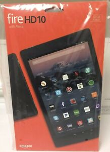 New Amazon  Fire HD 10 hands free Alexa 32GB 7th Gen 2017 Black With Offer