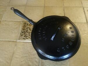 RARE #8 GRISWOLD WOODEN HANDLE LBL Cast Iron Skillet w #8 Self Basting LID!!!!!