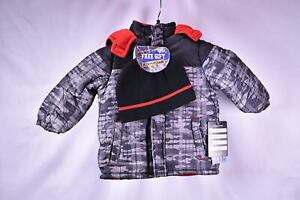 iXtreme Toddler Boys Camo Print Puffer Winter Snow Jacket BLACK $19.99