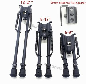 6 9 13 21#x27;#x27; Rifle Bipod Adjustable Leg Sniper Hunting Holder With 20mm Adapter