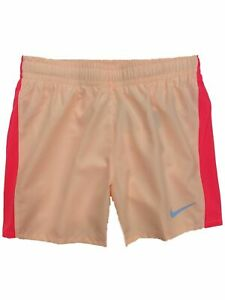 Nike Dry Girls Peach & Coral Dri-fit Running Track Athletic Shorts