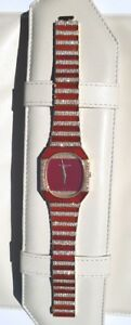 Vintage Patek Philippe 18K Gold Ruby Diamonds Watch Very Rare