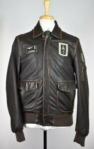 Aeronautica Militare Men's PN8551 PILOT Leather Jacket 50  M $850 NEW Current