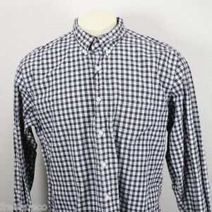 J.CREW GrayWhite Multi Plaid Button Down Sport Shirt -Men's XL EUC!