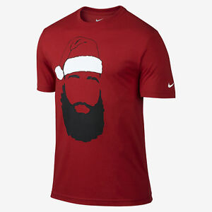 Nike James Harden Santa Beard Dri-fit Rockets Jersey Shirt RARE Mens S