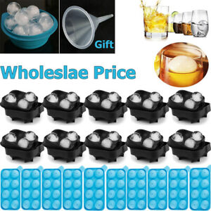 10 ICE Ball Maker Round 48 Sphere Tray Mold Cube Whiskey Ball Cocktail Silicone