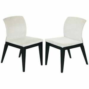 PAIR OF RRP £1980 CAR DESIGNER PININFARINA FOR REFLEX ANGELO OCCASIONAL CHAIRS