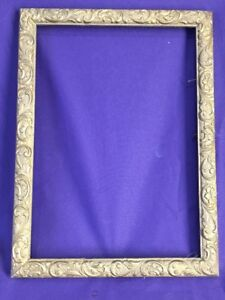 OLD Picture Frame ANTIQUE FITS 14 X 10 inch Painting Hand Carved Scroll Work
