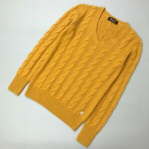 $1500 Loro Piana BABY CASHMERE Women Cable Knit Jumper Sweater Pullover Size S
