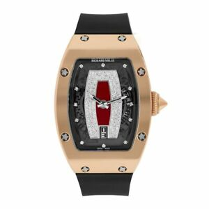 Richard Mille Red Jasper 45mm Diamond Automatic Rose Gold Ladies Watch RM007