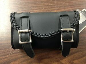 SMALL BRAIDED MOTORCYCLE TOOL BAG FOR HARLEY DAVIDSON METRIC MOTORCYCLES $17.96