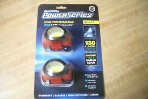Bell & Howell Red COB LED Headlamp Set Of 2 Brand New in Box