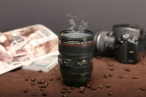 New Coffee Lens Emulation Camera Mug Cup Beer Cup Wine Cup Without Lid Black Pla