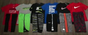 Lot 13 Boy's UNDER ARMOUR Adidas NIKE Dri-Fit Shirts Shorts YLG Large 1416 1NWT