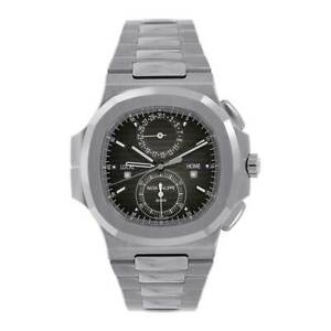 Patek Philippe Nautilus 40MM Stainless Steel Travel Time Chronograph 59901A-001
