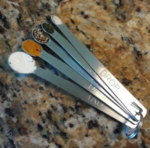 Tad Dash Pinch Smidgen Drop Stainless Measuring Spoons 5 Piece Set Unique