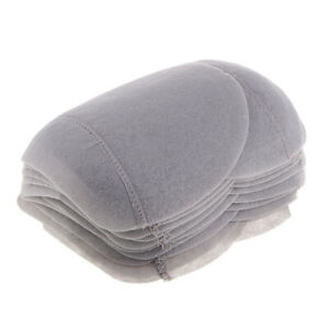 20pcs Gray Cotton Shoulder Pads Sew In Padding DIY Clothing Sewing Supplies $9.82