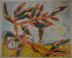 JEAN LURCAT FRANCE 1892 1966 ORIGINAL SIGNED LITHOGRAPH ABSTRACT SURREALIST $245.00