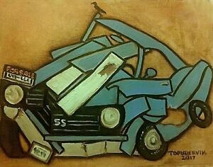 Classic Car Painting Old Cars SuperSport Muscle Car Art Gift By Tommervik